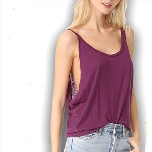 Free People Burnout Muscle Tee Tank Layer Lounge